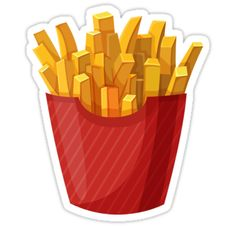 'French Fries Graphic' Art Print by Sylviebinder Food Png, Healthy And Unhealthy Food, Food Clips, Food Stickers, Food Icons, Food Drawing, Mcdonalds, Food Crafts, Chicken And Vegetables