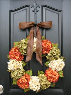 Fall, Autumn Leaves, Fall Wreaths, Autumn Decor, Front Door Wreaths, Holidays, Oktoberfest, Harvest. $115.00, via Etsy.