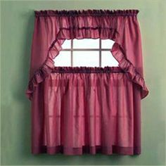 Stacey Tier Curtains ... http://www.curtainshop.com/710312/products/Stacey-Tier.html