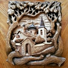 Chip Carving, Tree Carving, Wood Crafts, Diy And Crafts, Carved Wood Wall Art, White Lotus Flower, Wood Bark, Plaster Art, Wood Carving Patterns