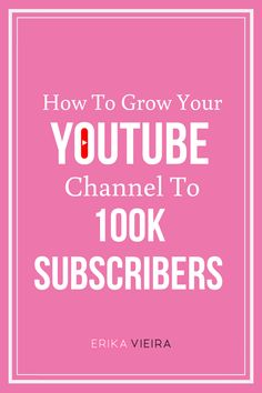 How To Grow Your Youtube Channel to 100K Subscribers. Listen to this Podcast Episode with Yarissa Rodriguez and Erika Vieira. #GrowonYoutube #YouTubeSubscribers #YouTubeGrowth Get Subscribers, Youtube Subscribers, Great Videos, You Videos, Video Channel, You Youtube, Social Media Tips, Erika, Instagram Story