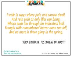 From poetry by Vera Brittain in Testament of Youth.
