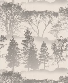 Graham and Brown, Mirage wallpaper in grey. Want this for the guest room at my father's house! $75 per roll.