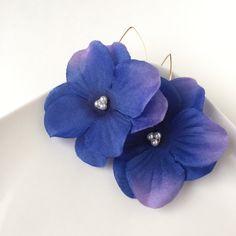 フラワーピアス(紫陽花)