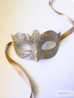 Champagne Unisex Venetian Mask for Men and Women Custom Color