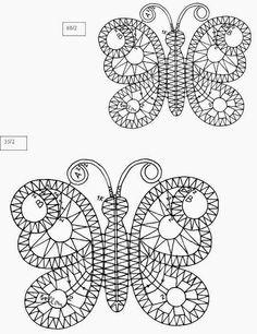 Bobbin Lace Patterns, Bead Loom Patterns, Doily Patterns, Dress Patterns, Hairpin Lace Crochet, Thread Crochet, Crochet Edgings, Crochet Motif, Crochet Shawl