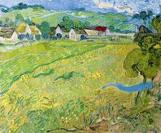 Vincent van Gogh / Les Vessenots in Auvers. Dimensions: w650 x h550 mm
