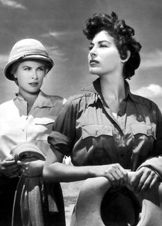 Grace Kelly & Ava Gardner | More Grace Kelly lusciousness here: http://mylusciouslife.com/photo-galleries/entertainment-books-movies-tv-music-arts-and-culture/
