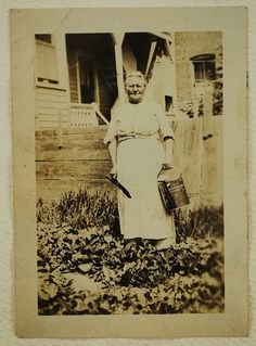 The Gardener, 1910's,  Real Photo Snapshot, Vintage Collectible, Photography, Real Photo, Vintage Photo. $4.50, via Etsy.