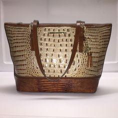 Brahmin Medium Asher Brulee Tri Texture Leather Tote Shoulder Bag | eBay