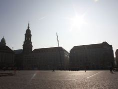 The Altmarkt in Dresden