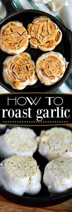 Roasted garlic is one of my favorite ingredients in soups and dips. If you've ever wondered how to roast garlic - you've come to the right place! Roasted garlic adds tremendous flavor and depth to any dish. Roasting the garlic really mellows out the garlic and makes it sweet and delicious. // Mom On Timeout #roasted #garlic #roast #howto