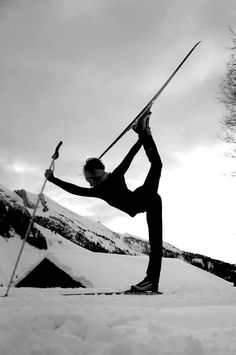 SNOWGA at its best... Dancer in cross country skis. Ultimate happy place right here Loved and pinned by www.downdogboutique.com