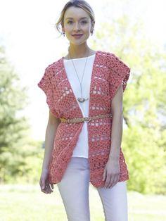 Crochet Short Ruana | Yarn | Free Knitting Patterns | Crochet Patterns | Yarnspirations