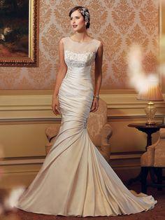 Sophia Tolli vestido de novia colección Primavera - Verano 2014.