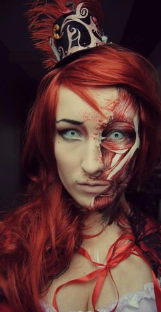 FAB make-up on this guest at #Amsterdam Spook's #Halloween 2012 party! By Candy Make-up
