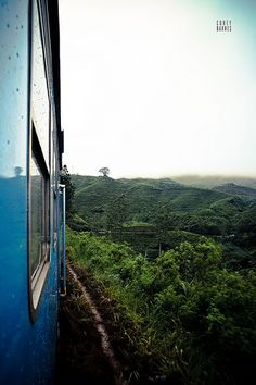 Train passing through the Tea Country, Sri Lanka #SriLanka #Train
