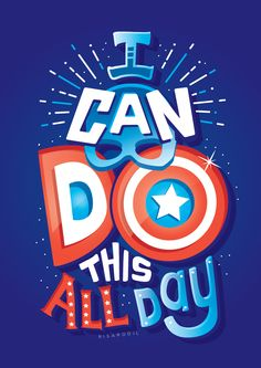 'I can do this all day' quote by Captain America | Avengers