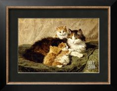 Contentment, 1900 Giclee Print by Henriette Ronner-Knip at Art.com