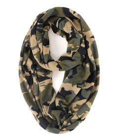Love this Earth Yellow Camouflage Infinity Scarf by RQ on #zulily! #zulilyfinds