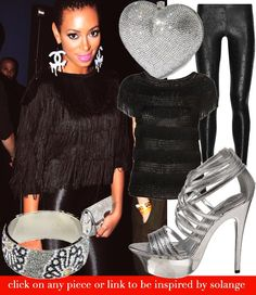 @solangeknowles looks a little too Beyonce-ey in this pic, but i can't deny her dripping @Chanel earrings!