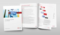 Mitsubishi UFJ Fund Services marketing collateral within brand guidelines