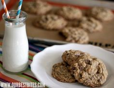 Giant Oatmeal Chocolate Chip Cookies - Our Best Bites