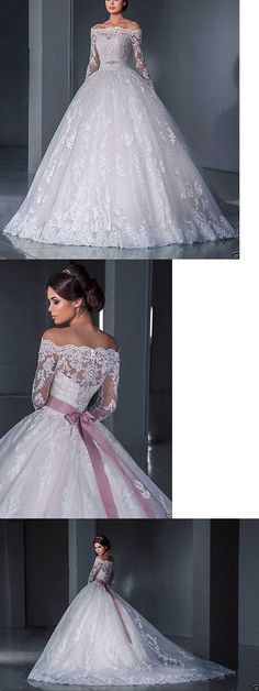 Gorgeous Off the Shoulder Prom Dress,Lace Bridal Dress,Custom Made Evening Dress,17419 - Thumbnail 1