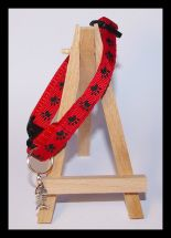 Red Paw print Cat Collar
