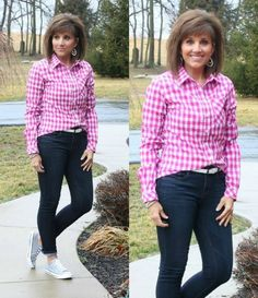 I like the gingham and the pink...trying to get out of the rut of black or gray.