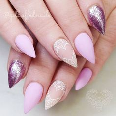 We have the best collection of Valentines Day nails, so you don't need to surf the net all day to find something flattering. We have found the most creative ideas possible. But if you want to create your nail design for Valentine's Day, keep in mind that hearts, glitters and red or pink color should be present in it.
