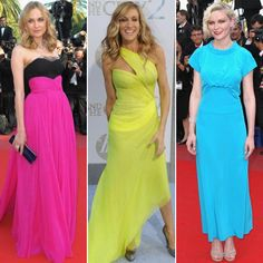 Neon colored dresses!!!!