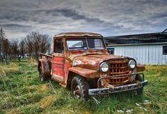 Old (Willys) Jeep Pickup Old Jeep, Jeep Tj, Jeep Truck, Jeep Willys, Old Pickup Trucks, Jeep Pickup, Vintage Jeep, Vintage Trucks, 1999 Jeep Wrangler