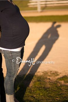 keeping with our engagement shoot theme Baseball Maternity, Fall Maternity, Maternity Poses, Maternity Photography, Photography Poses, Newborn Pictures, Maternity Pictures, Pregnancy Photos, Pregnant Halloween