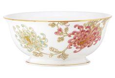 Painted Camellia Serve Bowl