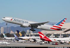 American Airlines Boeing 777-223/ER departing LAX