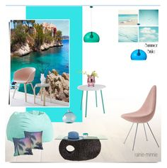 """Summer in the house"" by rainie-minnie ❤ liked on Polyvore featuring interior, interiors, interior design, home, home decor, interior decorating, PBteen, Dot & Bo, Kartell and Wedgwood"