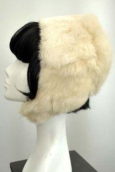 Vintage 1960s White Rabbit Fur Hat, Snow Bunny Hood Vintage 1960s Snow Bunny, White Rabbit Lined Hood Hat [rabbit fur] - £33.00 : Vintage Vampalicous http://www.vampalicious.co.uk