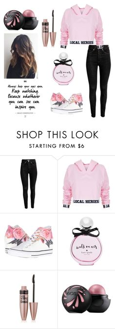 """Untitled #2"" by xo-nataliiee-xo ❤ liked on Polyvore featuring Local Heroes, Converse, Kate Spade and Maybelline"