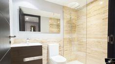 Baño realizado por el estudio de Arquitectura GrupoIAS en una vivienda en la Moraleja Bathroom Lighting, Interiors, Mirror, Furniture, Home Decor, Architectural Firm, Bathroom Light Fittings, Bathroom Vanity Lighting