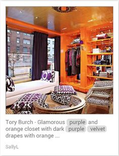 Purple and Orange Closet/dressing room