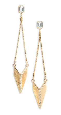 Chevron Dangle Earrings  Zoiets achtig, zonder diamant