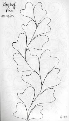 Quilting Sketch Book...Big Leaf Vines