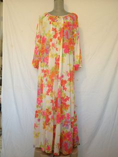 flower mou mou maxi nightgown dress size by GlazyDaysandNights Wabi Sabi 5e15f0511