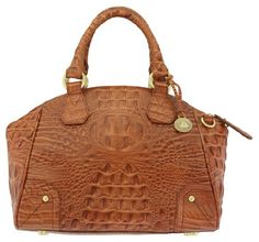 $324.99-$335.00 Handbags  Brahmin Tyler Sedona Melbourne Satchel Handbag - Pair this Brahmin Tyler Sedona Melbourne Satchel with any outfit. The structured dome satchel style will give you a polished look that you just cant get with a slouchy, hobo style handbag.  The croc embossed leather is equally impressive.  This functional tote offers a front slip pocket, rolled double handles and a removabl ...