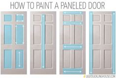 how to paint a paneled door, doors, painting