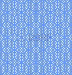 hexagonal lattice: Seamless geometric blue pattern. Optical illusion texture. Vector art. Illustration