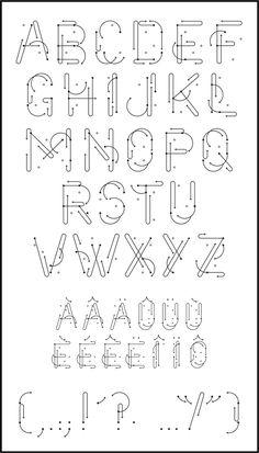 Tout va bien - le Lucinda Childs, dance steps typeface
