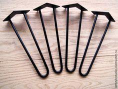 Купить Ножки Шпильки 40см. - черный, ножки шпильки, подстолье для стола, ретро ножки для стола