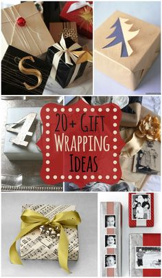 20+ Gift Wrapping Ideas - So many creative ideas for fun and pretty gift wrapping!! { lilluna.com }